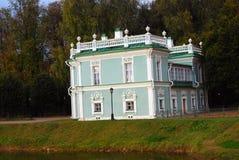 Kuskovo park w Moskwa Włoszczyzna dom 1754-55 Fotografia Royalty Free