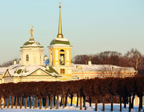 Kuskovo Zustand. Ansicht der Palastkirche Stockfotografie