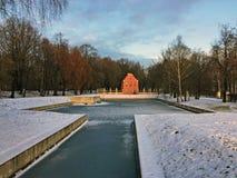 Kuskovolandgoed in de winterdag van Moskou Rusland royalty-vrije stock foto