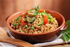 Cous cous mit Gemüse Lizenzfreies Stockbild