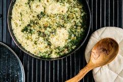 Kuskus - morrocan Küche Lizenzfreie Stockfotos