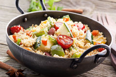Kuskus with Vegetable royalty free stock photo