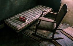 Kuslig plats med en docka arkivfoto