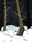 kusliga kyrkogårdtrees Royaltyfri Fotografi
