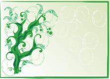 Kusligt grönt träd vektor illustrationer
