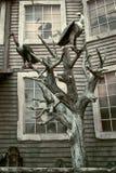 kusligt halloween hus Arkivfoto