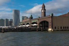 Kusligt Lackawanna torn och skeppsdockor royaltyfri fotografi