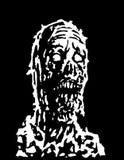 Kusligt levande dödhuvud också vektor för coreldrawillustration stock illustrationer