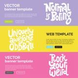 Kusligt och härligt Beståndsdel för typografi för grafisk design för kalligrafiinspiration vektor illustrationer