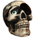 Kusligt piratkopiera skallen Royaltyfria Bilder