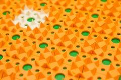 Kusnezow-Applikator - mehrfarbige Nadelnahaufnahme lizenzfreie stockfotos