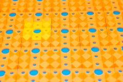 Kusnezow-Applikator - mehrfarbige Nadelnahaufnahme lizenzfreies stockbild