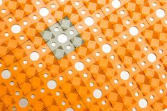 Kusnezow-Applikator - mehrfarbige Nadelnahaufnahme stockfotos