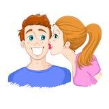 Kuss auf der Backe Stockfotografie
