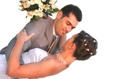 Kuss auf einem Hintergrund einer Abnahme Lizenzfreies Stockbild