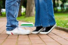 Kuss in der Schule Stockbilder