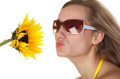 Kuss des Sommers Lizenzfreies Stockbild