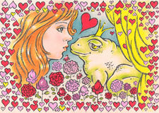 Kuss für Prinzen vektor abbildung