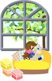 Kuss mit einem Kätzchen Stockbilder