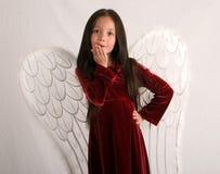 Kuss von einem Engel Lizenzfreies Stockbild