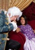 Kussende hand royalty-vrije stock fotografie