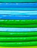 Kussens gestapelde textuur als achtergrond Royalty-vrije Stock Fotografie