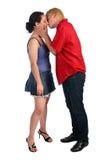 Kussmädchen des jungen Mannes Stockfoto