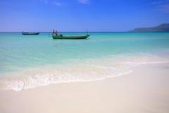 Kust av ön Koh Rong. Cambodja Fotografering för Bildbyråer