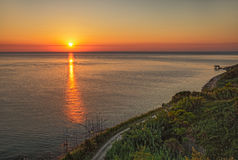 Kust av Adriatiskt havet i Chieti, Abruzzo, Italien Royaltyfri Bild
