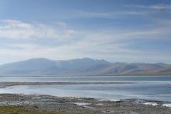 Kust av bergsjön Arkivfoton