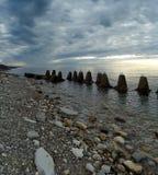 Kust av Blacket Sea, Sochi Arkivfoton