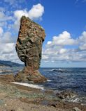 Kust av den Sakhalin ön Royaltyfria Bilder