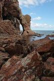 Kust av den Sakhalin ön Arkivbild