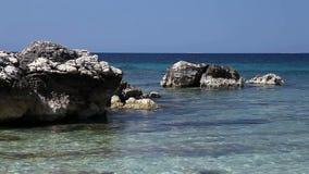 Kust av det Adriatic havet arkivfilmer