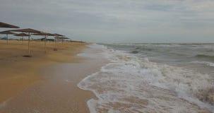 Kust av det Azov havet lager videofilmer