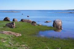 Kust av det vita havet Royaltyfria Bilder