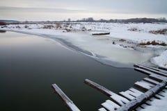 Kust av floden Arkivbild