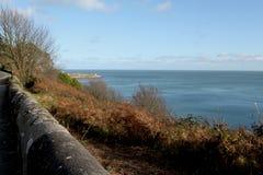 Kust av havet i höst i Dublin Ireland Royaltyfria Foton