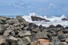 Kust av Indiska oceanen i Sri Lanka Fotografering för Bildbyråer