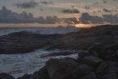 Kust av Indiska oceanen i Sri Lanka Royaltyfri Foto