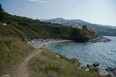 Kust av Korfu Arkivbilder