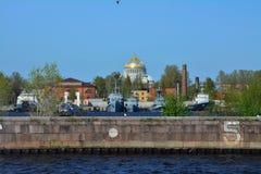 Kust av Kronstadt, St Petersburg, Ryssland Arkivfoto