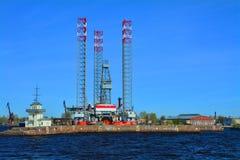 Kust av Kronstadt, St Petersburg, Ryssland Fotografering för Bildbyråer