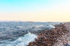 Kust av laken Baikal Royaltyfri Foto