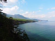 Kust av laken Baikal Arkivbilder