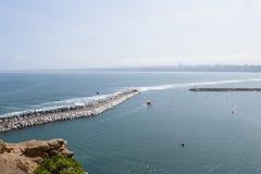 Kust av Lima, Peru Royaltyfria Bilder