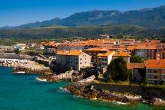 Kust av Llanes asturias spain Arkivfoto