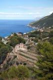 Kust av Mallorca i Banyalbufar Royaltyfria Foton