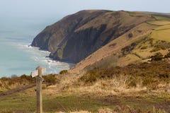 Kust av norr Devon mellan Ilfracombe och Lynmouth royaltyfria foton