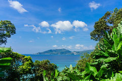 Kust av Phuket thailand Arkivbild